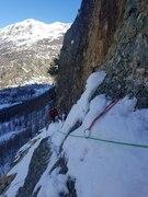 Rock Climbing Photo: Finishing theinitial traverse