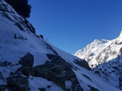 Rock Climbing Photo: Top of the ramp which begins the initial traverse ...
