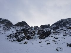 Rock Climbing Photo: The view of Patri from the approach.  The track to...