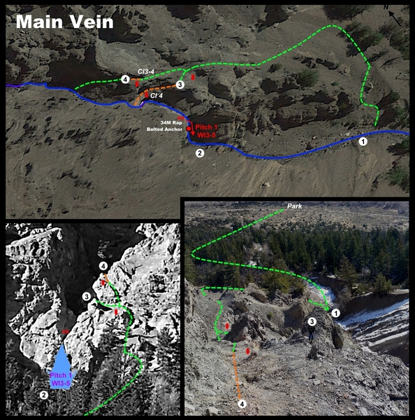 Main Vein first pitch walk-around.