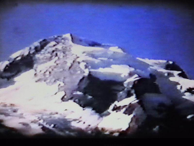 North Buttress in middle of screen (from Super 8mm movie film)