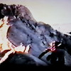 Starting up the NW Ridge just above Ravelin Col (from Super 8mm movie film)