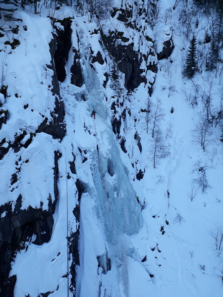 "Climbers on ""Vermorkbrofoss West"""