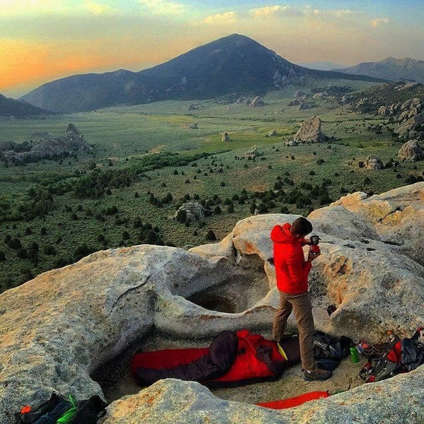 We bivyed on top of Stripe Rock just for fun. What an amazing place to spend the night.