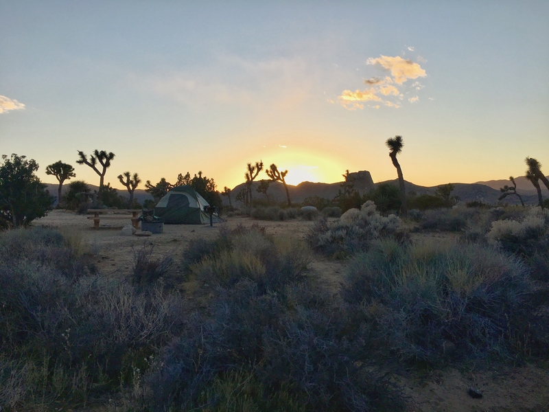 Sunset from Ryan Campground.