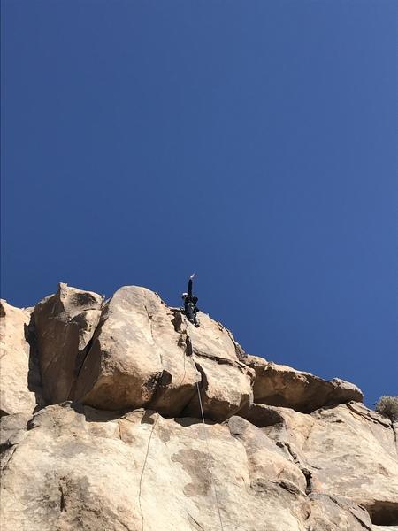 Danielle Wampler's first day climbing.
