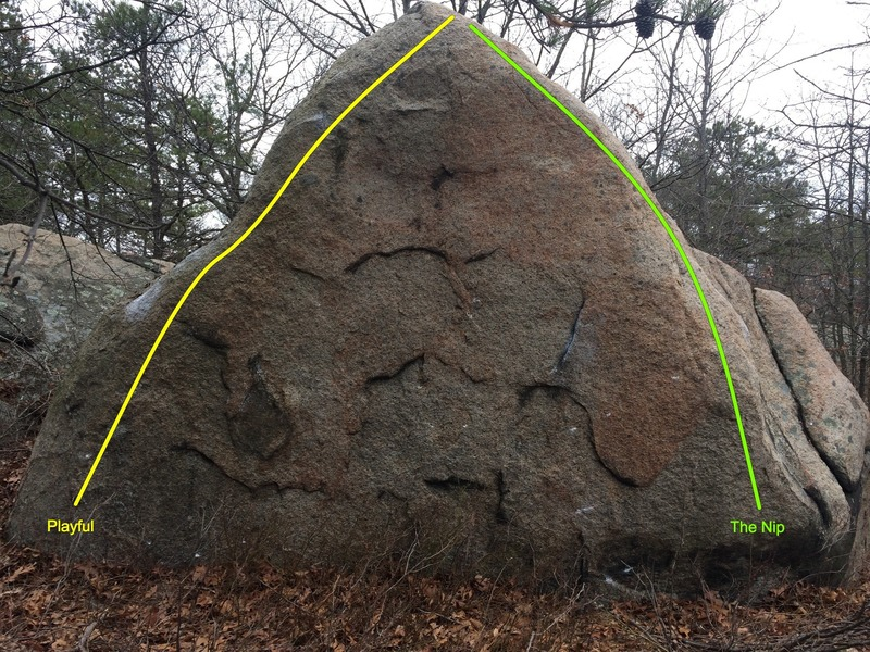 The Nip Boulder.