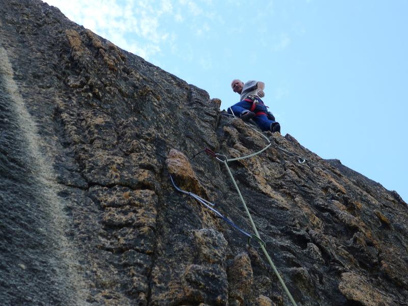 Mike Arechiga climbing at the Melting Wall, fun stuff, Lost Eagle Dome.