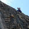 Mike Arechiga climbing at the Melting Wall, fun stuff, Lost Eagle Dome.