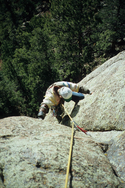 Harvey Carter, the top of pitch 1, Abracadabra, from 2004.