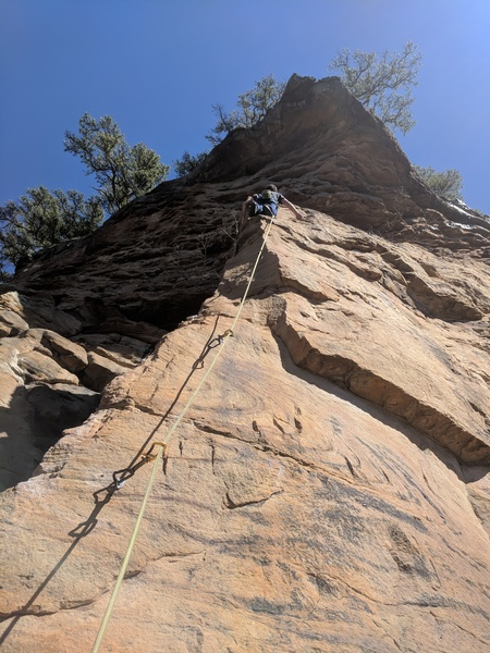 Kevin contemplates attempting the 2nd pitch above Commodus