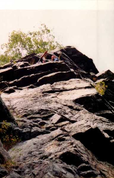Joey Vulpis and Tony Lombardo on Surprise belay ledge circa 2001 or 2002