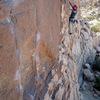 On lead at Thin Wall - photo: David Blattel