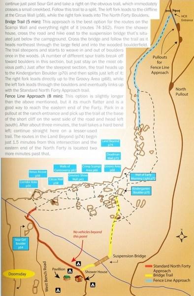 North 40 GB map