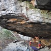 D-Shope staying dry under Prospectors Roof on Pure Gold (V7/8)