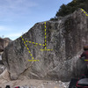 Dynamite boulder with possible new routes yet to be finished
