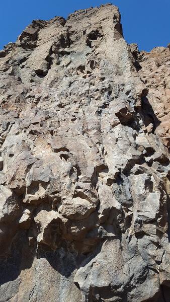 White rock left of the crack