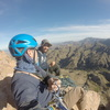Sebastion and James 4 pitches into the first ascent of &quot;1697&quot;