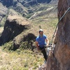 Sebastian on first ascent of Tarantula