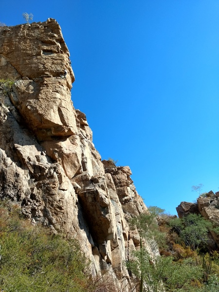 Sebastian and James on the first ascent of Turantula Baja