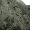 in between cruxes of different types. stiff route for the grade!