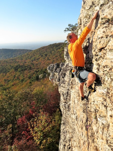 """Climbing at The Fin; the longest and most concentrated stretch of rock in the West Walls."""