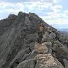 Ridge traverse to the summit.