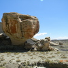 Scary huge boulder! Can you find the crash pad in the picture?