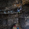 Climber Eric Anderson<br> Photo by Anthony Johnson