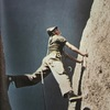 Bob Boyle leading the second pitch on The Wedge in 1956 (photo Rod Smith) from the 79 Wolfe guide