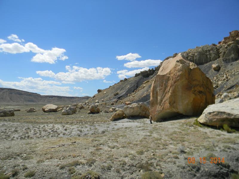 "East side of massive boulder with nick name ""Alien VS Predator"""