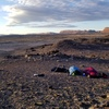 Camping on BLM land about 10 miles north of Moab.