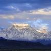 Basin Mountain at sunrise.