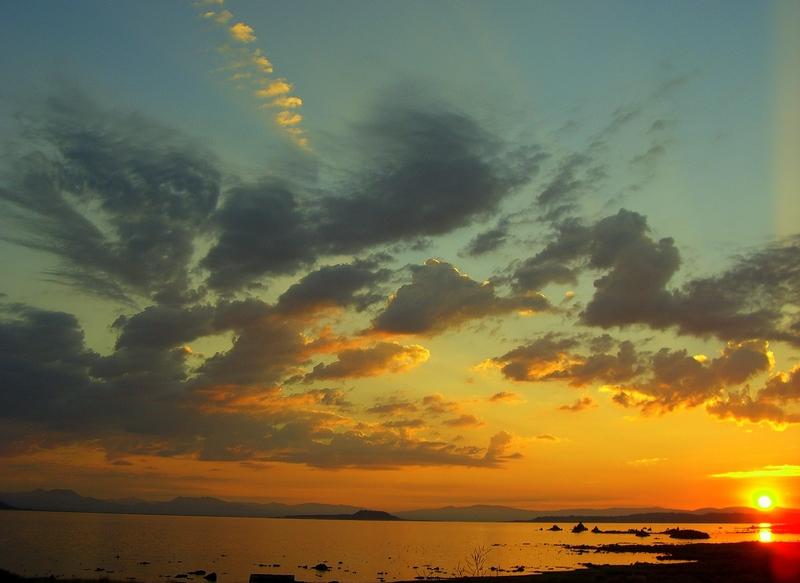 Sunrise over Mono Lake.