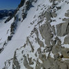 Alpine conditions on the std east face route. (5/28/2012)