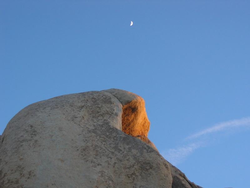 Last light on Intersection Rock, Joshua Tree NP