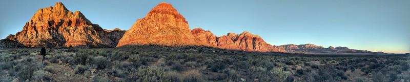 Hiking in to Oak Creek Canyon at dawn to climb Solar Slab!<br> 02/17/2018