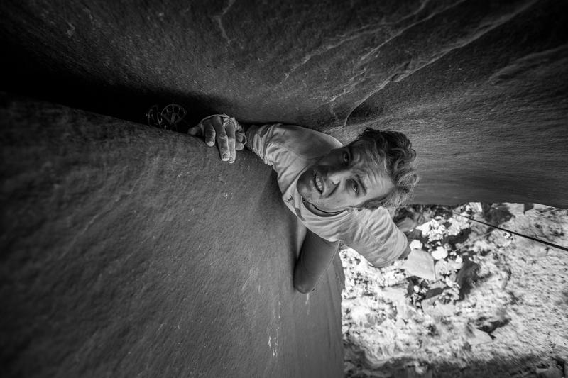 Climber Preston Pettigrew<br> Photo by Anthony Johnson