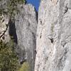 Climbers on Mota Wall.