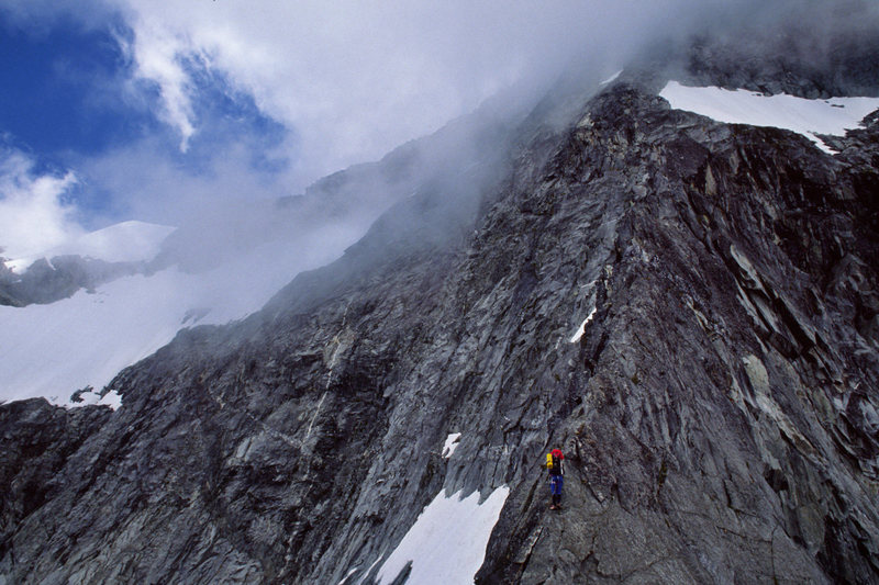 Dave Goodman on the narrow section of the route in July 1988