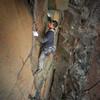 Climber Jo Lee <br> Photo by Anthony Johnson