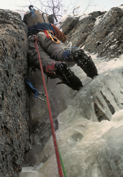 Rainsford Rouner leading the last pitch of Remission on the FWA in Jan 1976
