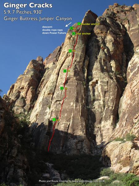 Route Overlay Ginger Cracks.