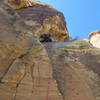 Pitch 5, which starts with a nice 5.8 crack before trending right around the corner.