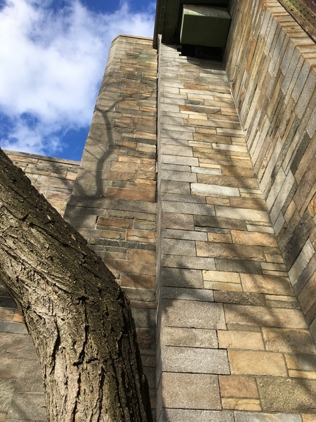 Two tall dihedral routes, 72nd Street stairs (South face)