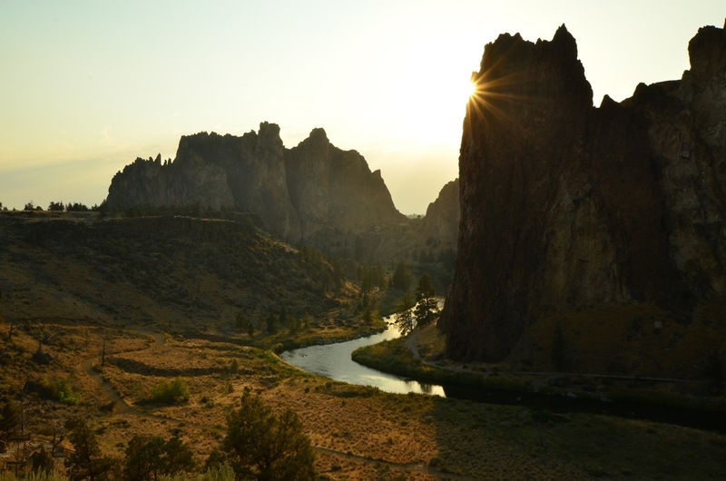 Smith Rock at sundown