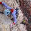 Climber leading Pitch 8.