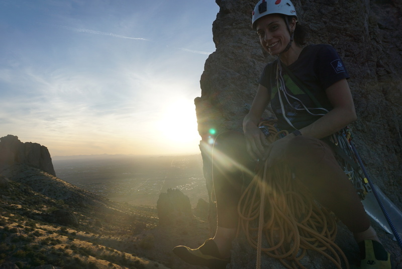 Cheb at the second pitch of Razors Edge on The Hand