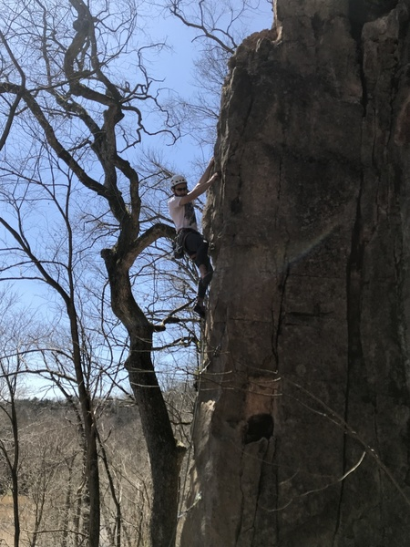 Taylor sussing out the crux