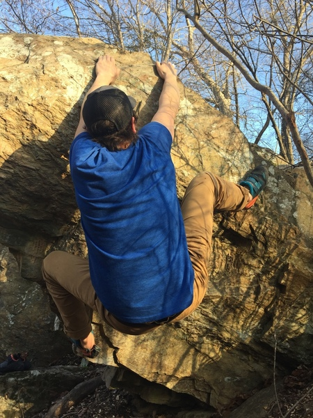 Heel hook before topping out